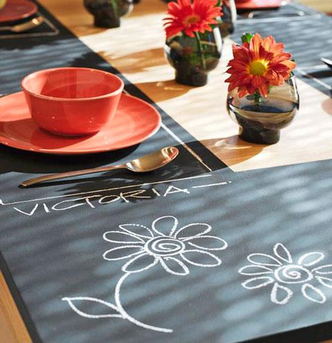 Pintura de pizarra para mesas