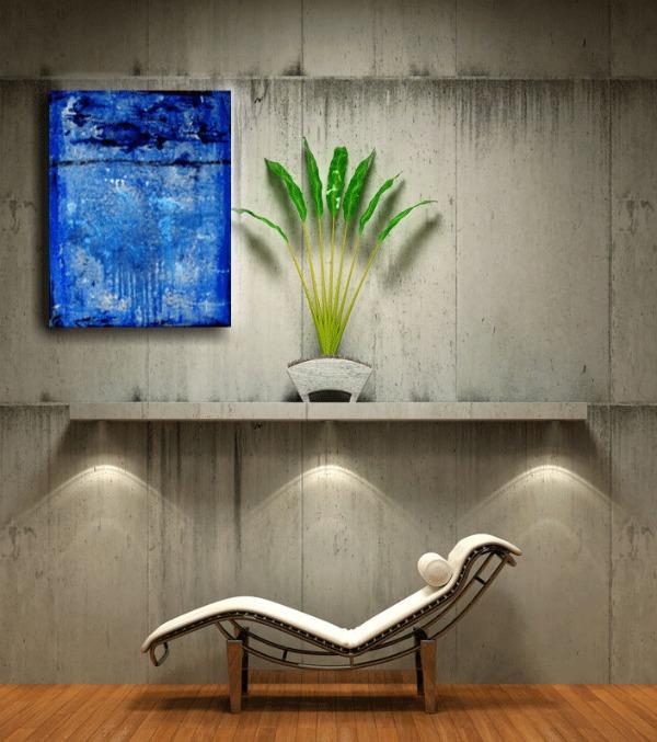 Cuadro azul intenso abstracto