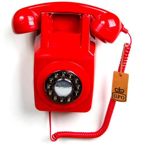 Teléfono antiguo de pared años 80