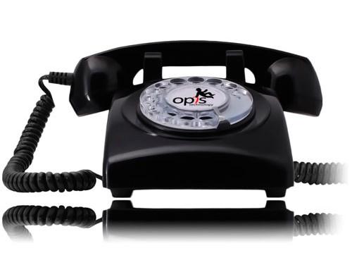 Teléfono retro estilo años 60