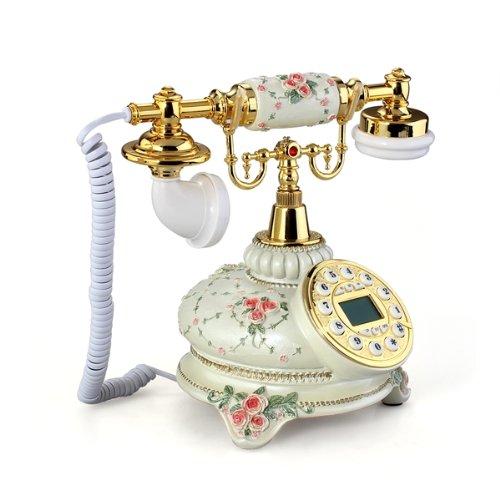 Teléfono vintage estilo clásico floral