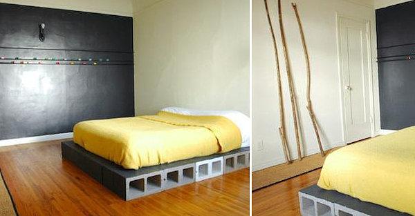 Muebles con bloques de hormigón   decorar hogar