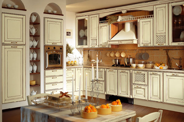 Cocina vintage estilo francés