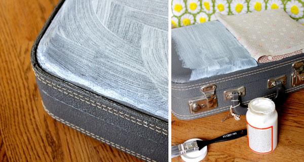Decoración de maletas de viaje con tela