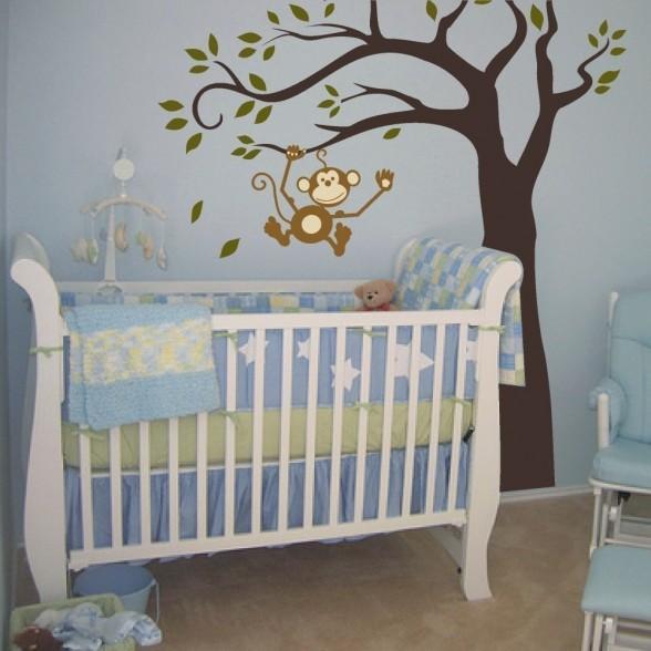 C mo decorar la habitaci n de un beb decorar hogar for Pegatinas habitacion infantil