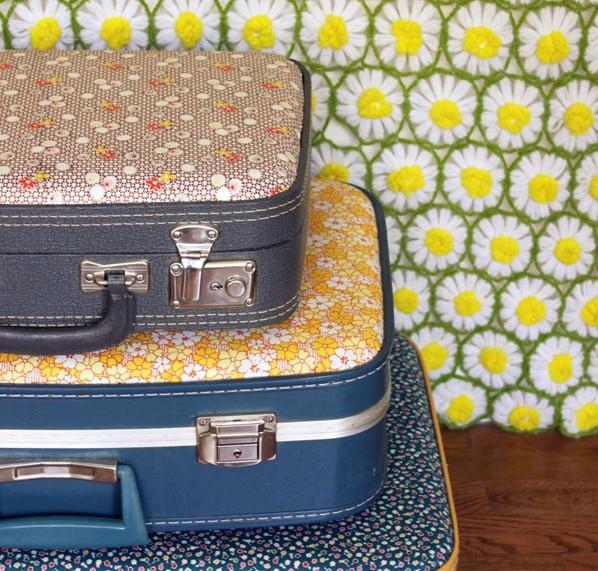 Cómo decorar maletas vintage antiguas