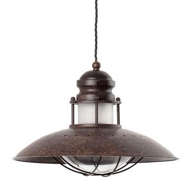 Lámpara de techo industrial de acero