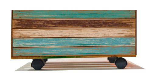 Caja de madera vintage envejecida