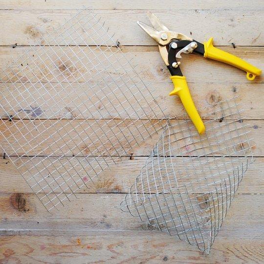 Cortar alambres para macetero de pared
