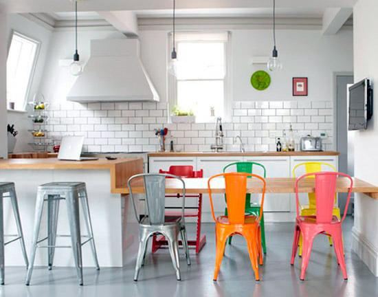 cocina con mobiliario vintage