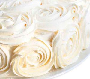 Hacer rosas de frosting