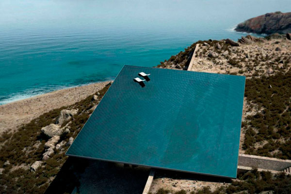 Increíble casa con piscina infinita en Grecia