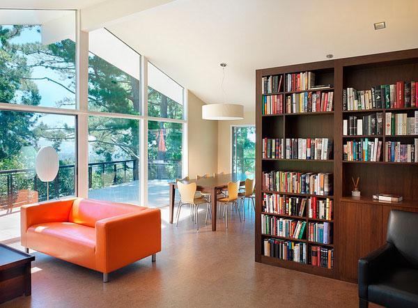 Decorar con libros dividiendo espacios