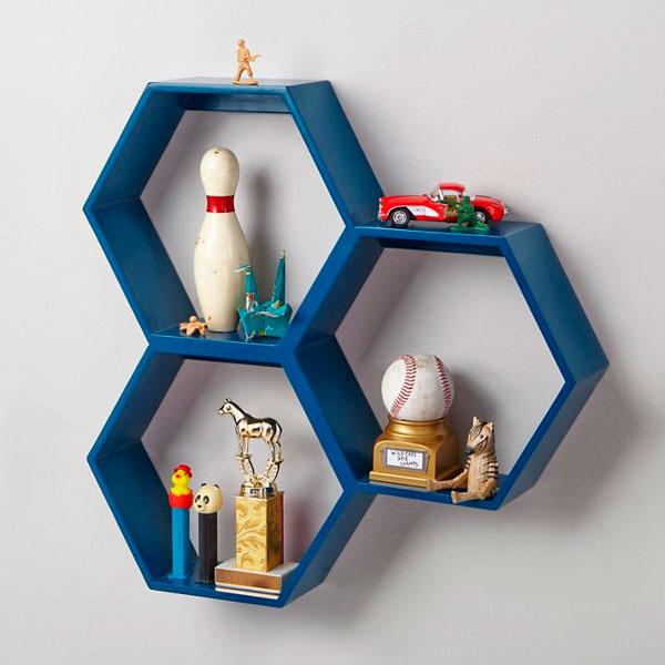 Hexagono forma geométrica de moda en decoración