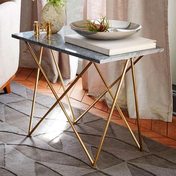 Tendencias otoño 2014 mesa de marmol y metal