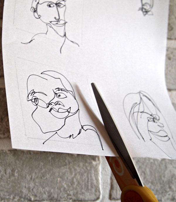 Recortar los retratos de picasso