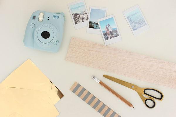 DIY para colgar fotos instax tipo instagram