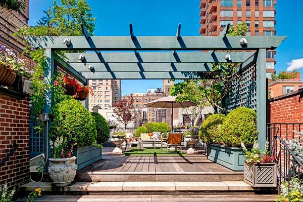 Espectacular jardín en un apartamento de manhattan