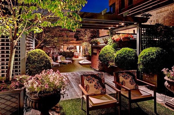 Jardín exterior en nueva york inspirado en rio
