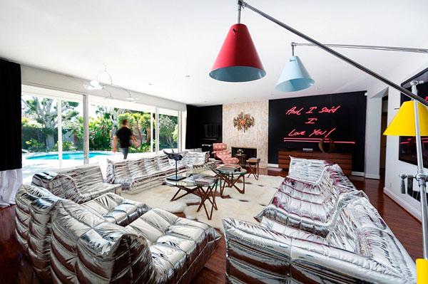Sala de estar vintage a lo Beverly Hills