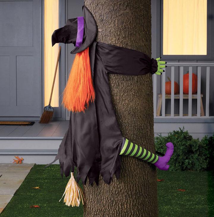 Decoración de Halloween con brujas