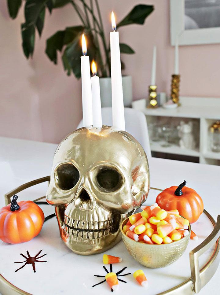 Decoración Halloween con esqueletos