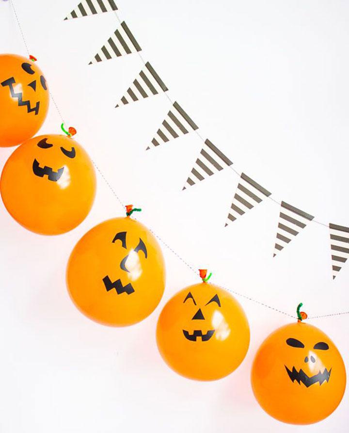Decoración de Halloween con globos