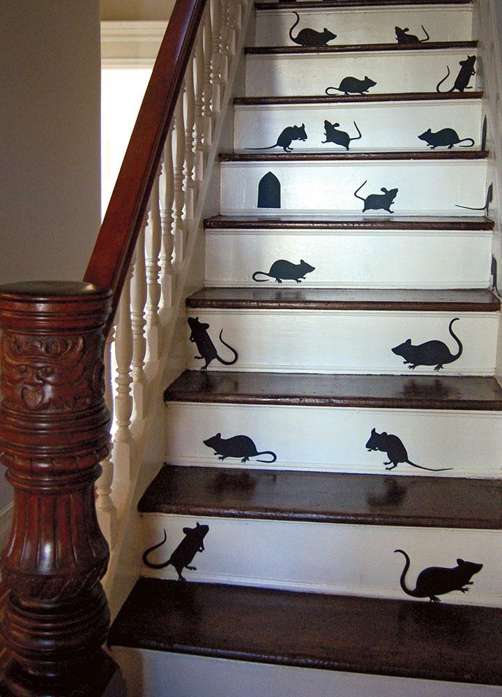 Decoración de Halloween con ratas