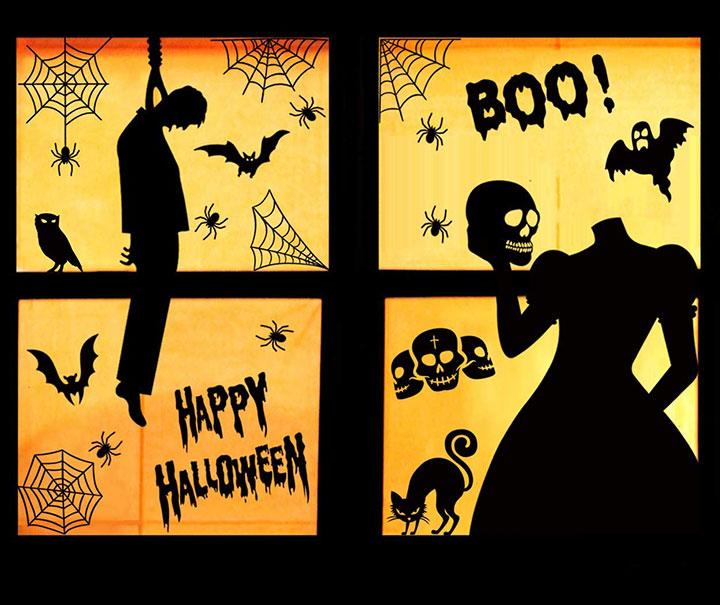 Decoración de ventanas en Halloween