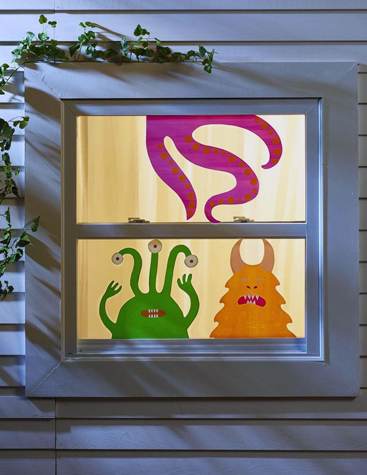 Decoraciones de Halloween para ventanas