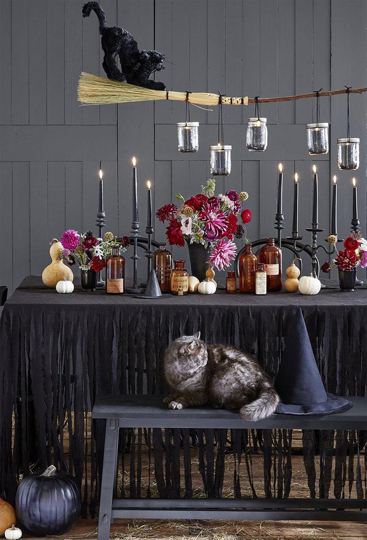 Decorar la mesa en Halloween