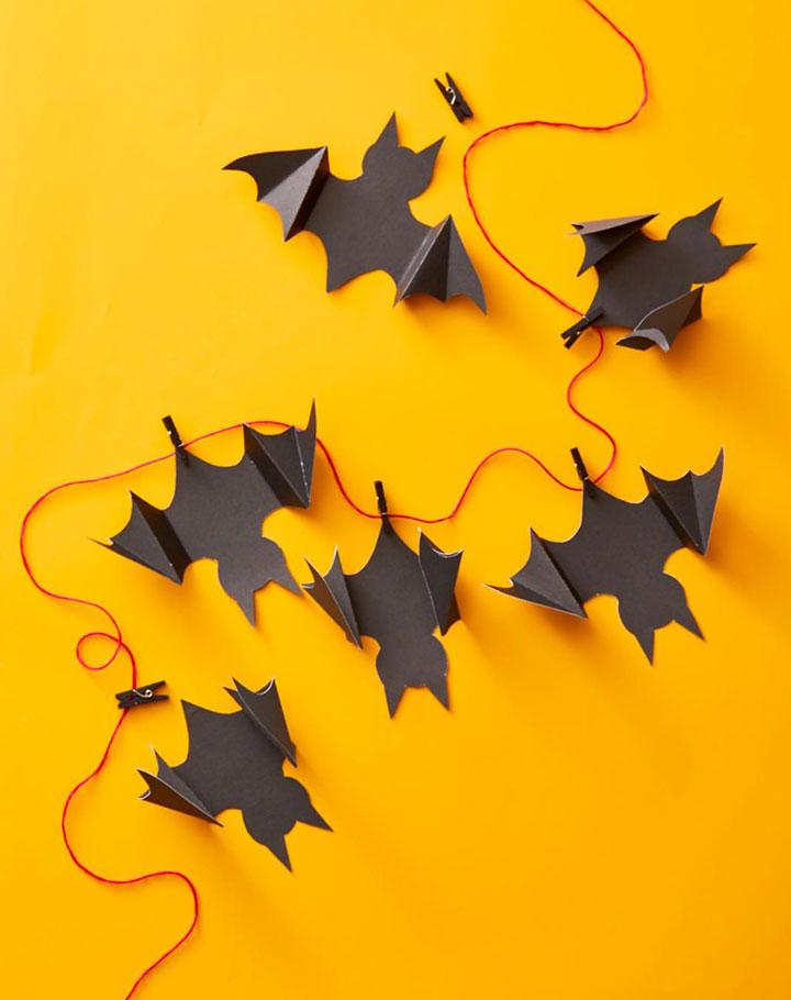 Decorar con murciélagos en Halloween