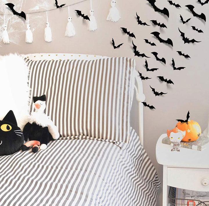 Decorar las paredes en Halloween