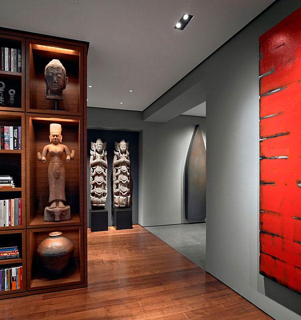 Fusión de estilos orientales en diseño de interiores