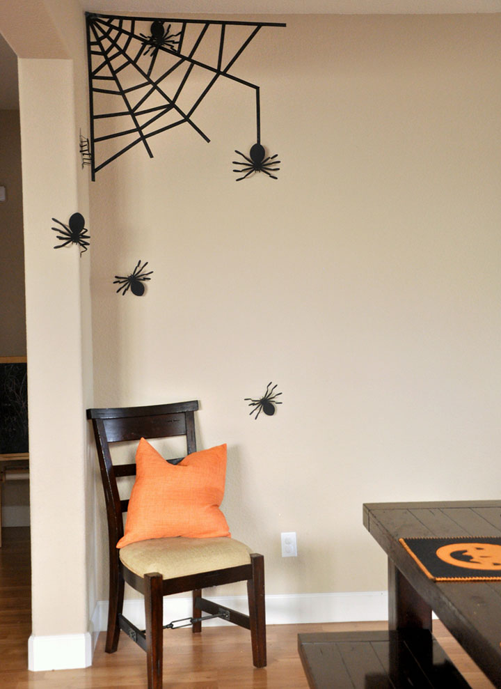 Ideas para decorar halloween con arañas