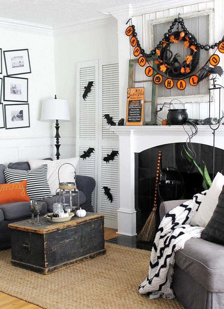 Ideas para decorar el salón en Halloween