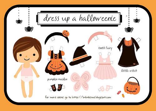 Recorta y viste al estilo Halloween