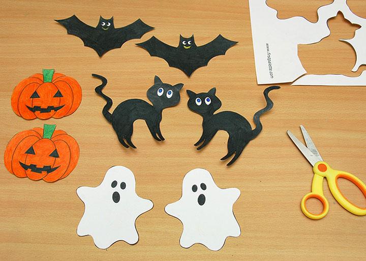 Imprimibles para colorear y recortar en Halloween