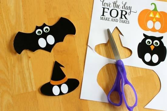 Marionetas imprimibles de Halloween para niños
