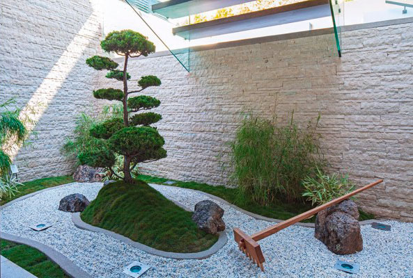 Jardín Zen para decoración oriental
