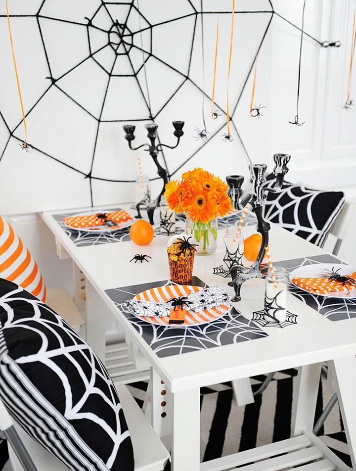 Mesas decoradas para Halloween