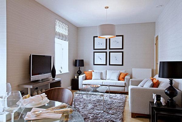 decoracin con muebles bajos para salones pequeos