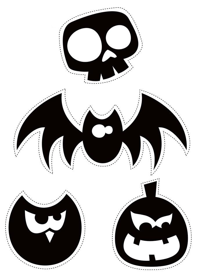 Siluetas de Halloween para imprimir y recortar