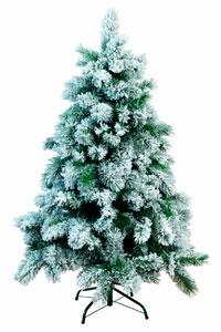 Abeto navideño nevado