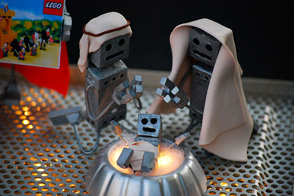 Ideas de Belenes de Navidad modernos robots