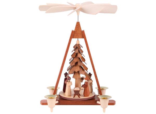 Nacimiento de Navidad moderno en madera