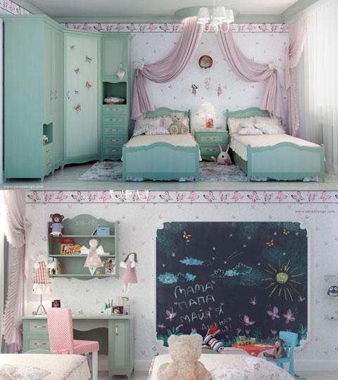 Habitación infantil para niñas pequeñas