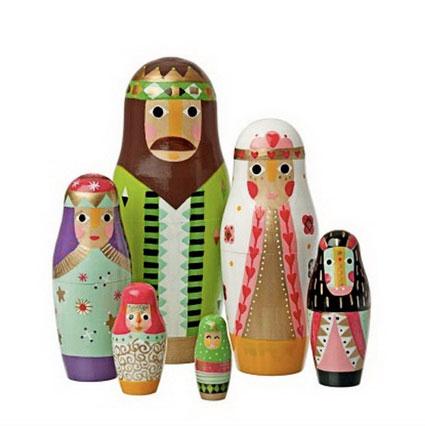 Belén de muñecas rusas