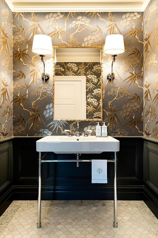 Papel pintado de pared color oro
