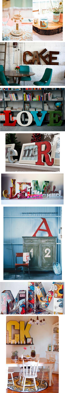Ideas y ejemplos de decoración con letras